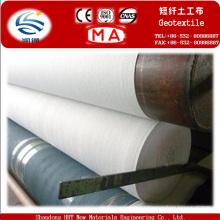 Geotextil no tejido perforado aguja de la fibra corta del poliéster del 200g 100%