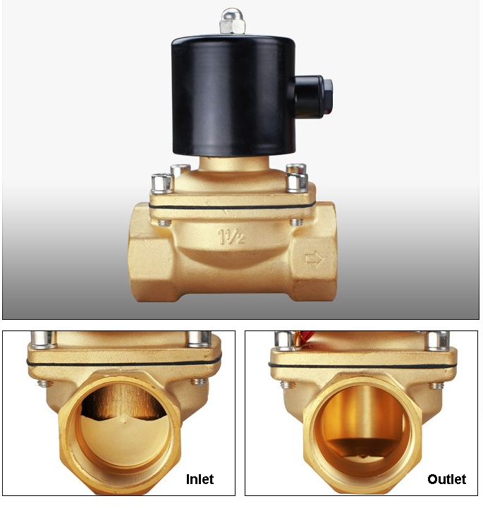Inlet and Outlet of 2W160-15 solenoid valves