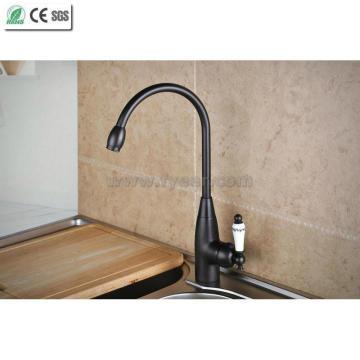 Orb латунь кухонная раковина кран с керамической ручкой (Q14601KB)