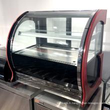 Armoire à gâteaux de réfrigération pour boulangerie en verre