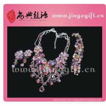 Shangdian Cutural Crafted Purple Floral Runway Party Jewelry