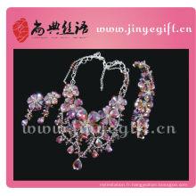Shangdian Cutural Artisan Purple Floral Runway Party bijoux