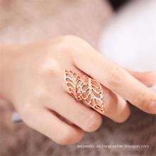 Destino joyería cristal de Swarovski hoja hueco anillo