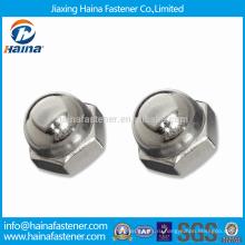 Высококачественные нержавеющие стальные обыкновенные гайки / DIN1587 SS Шестигранные гайки