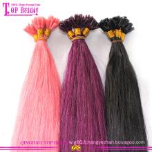 100 % cheveux humains pré coloré tressé cheveux trame Grade 7 a Top qualité pré tressé des Extensions de cheveux en vente