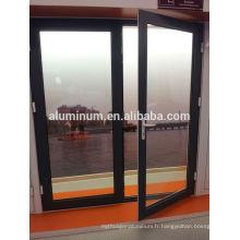Porte battante en aluminium à rupture thermique