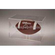 Fábrica confiável de fabricação portátil claro Acrílico modelo único fone de exibição de futebol atacado