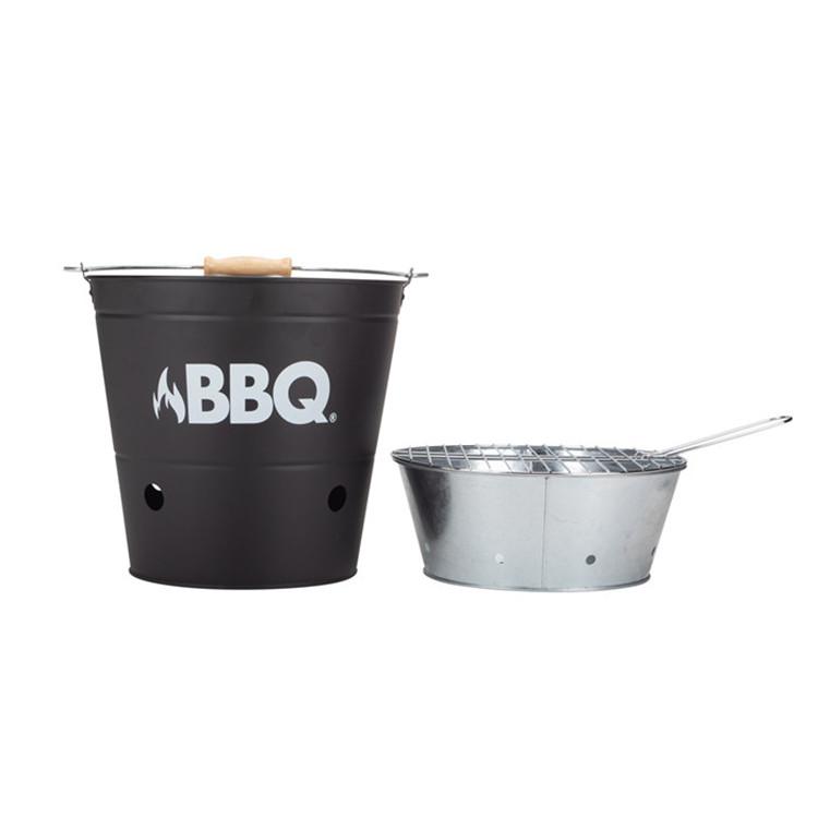 Camping hiking portable BBQ bucket