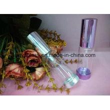 Рулон стеклянной бутылки дезодоранта цилиндра на бутылке для духов