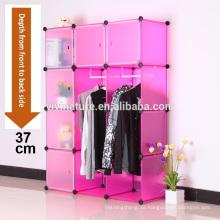 VIIVNATURE Kunststoff Kleiderschrank Schlafzimmer Möbel Box Cube Schrank Lagerung Kleidung Schrank Einheit Organizer mit 12 Beiliegende Tragbare E