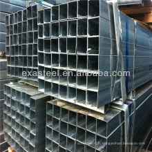 Tuyaux en acier galvanisé carré et rectangulaire / tuyau plat galvanisé / tube à haute qualité