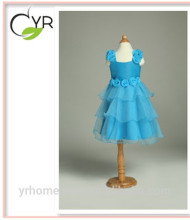 baby Princess dress bridal stain Pleated Brace dress with flowers