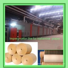 Декоративная бумага для нанесения клея / Линия пропитки для меламиновой бумаги