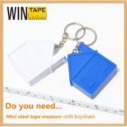 House Shaped Promotional Key Chain Measure Tape