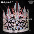 AB Diamond With Colored Spike Crystal Pageant Crowns