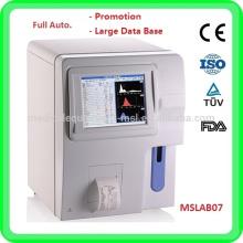 MSLAB07A analyseur d'hématologie / analyse de sang / analyseur d'hématologie prix