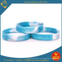 2014 benutzerdefinierte billig Großhandel Swirl Silikon / Gummi Armbänder / Armbänder