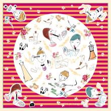 Lenço de seda quadrado doce do desenhista 2015