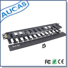 Aucas marca de alta calidad de cable de montaje / retráctil 1u gestión de cables para 19inch servidor de rack precio caliente
