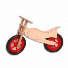 Baby Bike, Made of Solid Wood, Rubber Tire and Bird Swing Seat