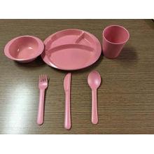 (BC-CS1069) Ensemble de vaisselle en fibre de bambou pour enfants