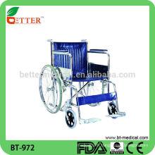 Chaise roulante handicapée en acier