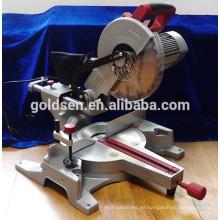 255mm 1800w Motor de inducción de bajo ruido Motor eléctrico de la sierra de la diapositiva de la energía Sierra de corte del perfil de aluminio de la energía