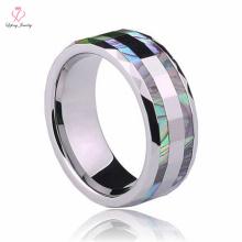 Nuevo anillo giratorio de tungsteno, anillo de tungsteno incrustado de perlas