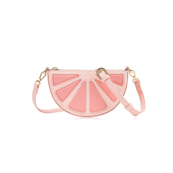 Cute candy color fruit shape shoulder bag handbag