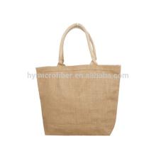 Eco amigable y transpirable yute bolsa de compras con precio barato