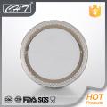 A011 placa de cena de cerámica de lujo del hueso fino de la flor del rhombus de la venta caliente