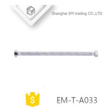 EM-T-A033 Accesorio para baño Manguera trenzada de acero inoxidable Accesorio sanitario