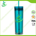 16 Oz BPA-Free Acrylic Cup with Straw, as Cup