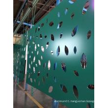 Decorative Aluminium Engraving Panel with Leaf Shape (GLEP-001)