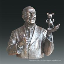 Большая фигура Уолт Бронзовая скульптура Tpls-077