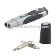 3 en 1 paire Multi Tool-Level, lampe de poche et tournevis interchangeable