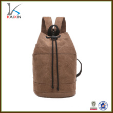 vintage custom canvas draw string backpack for students