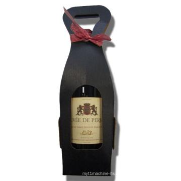 Schwarz gefärbte Papier Weinkisten