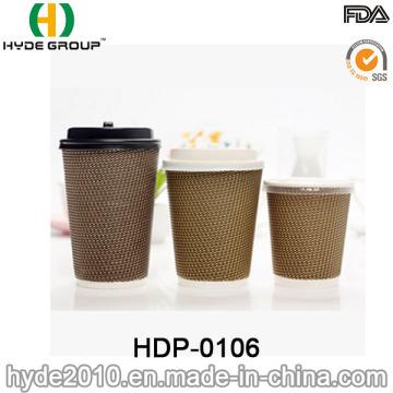 Ripple de copo de papel de parede de envoltório para café com baixo preço