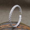 Brazalete de acero inoxidable simple popular brazalete de acero de los hombres Brazalete de acero inoxidable simple popular brazalete de acero de los hombres brazalete