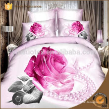 Pink rose romantic 3d duvet cover set flower printed, 3d bedsheet, adult bed sheet designs