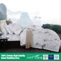 Hotel bedding/Wholesale 200TC cotton bedding set,blue bed sheet duvet cover pillowcase