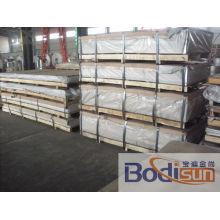 Folha de liga de alumínio liso 5052 H32 Qualidade anodizada na fabricação de metal e liga