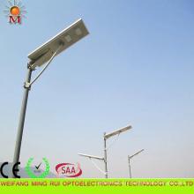 Rendement élevé 5 ans de garantie intégré solaire LED réverbère 80W