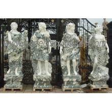 Tallando la estatua de piedra de mármol de la escultura para la decoración del jardín (SY-C1274)