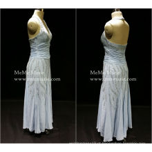 [Disponível] Halter Deep V Open Back Column Evening Dress Vestido de baile com Silver Sequins BYE-14054