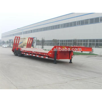 Duble Axles Low Bed Semi Trailer Load Capcity 30 Ton