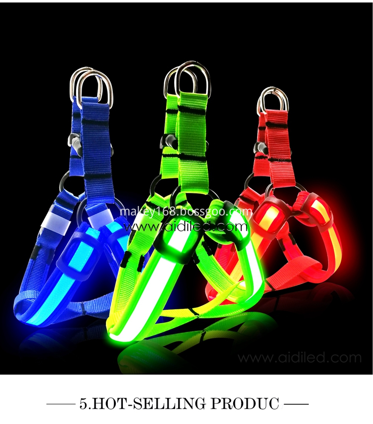Led Flashing Safety Dog Harness