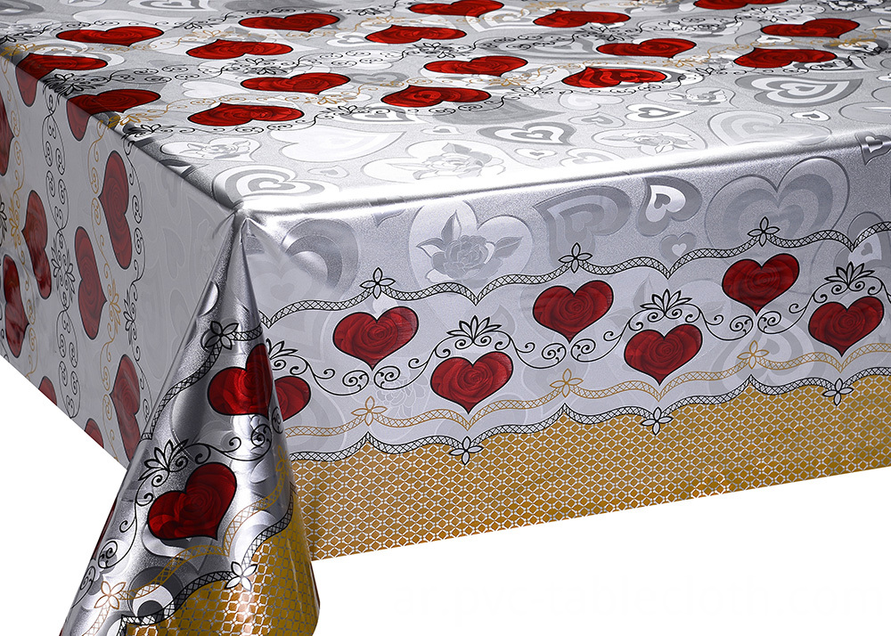 Double Face Silver Gold Emboss Tablecloth