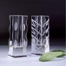 Кристаллический Ваза цветка для домашнего украшения (РС-НР-010)